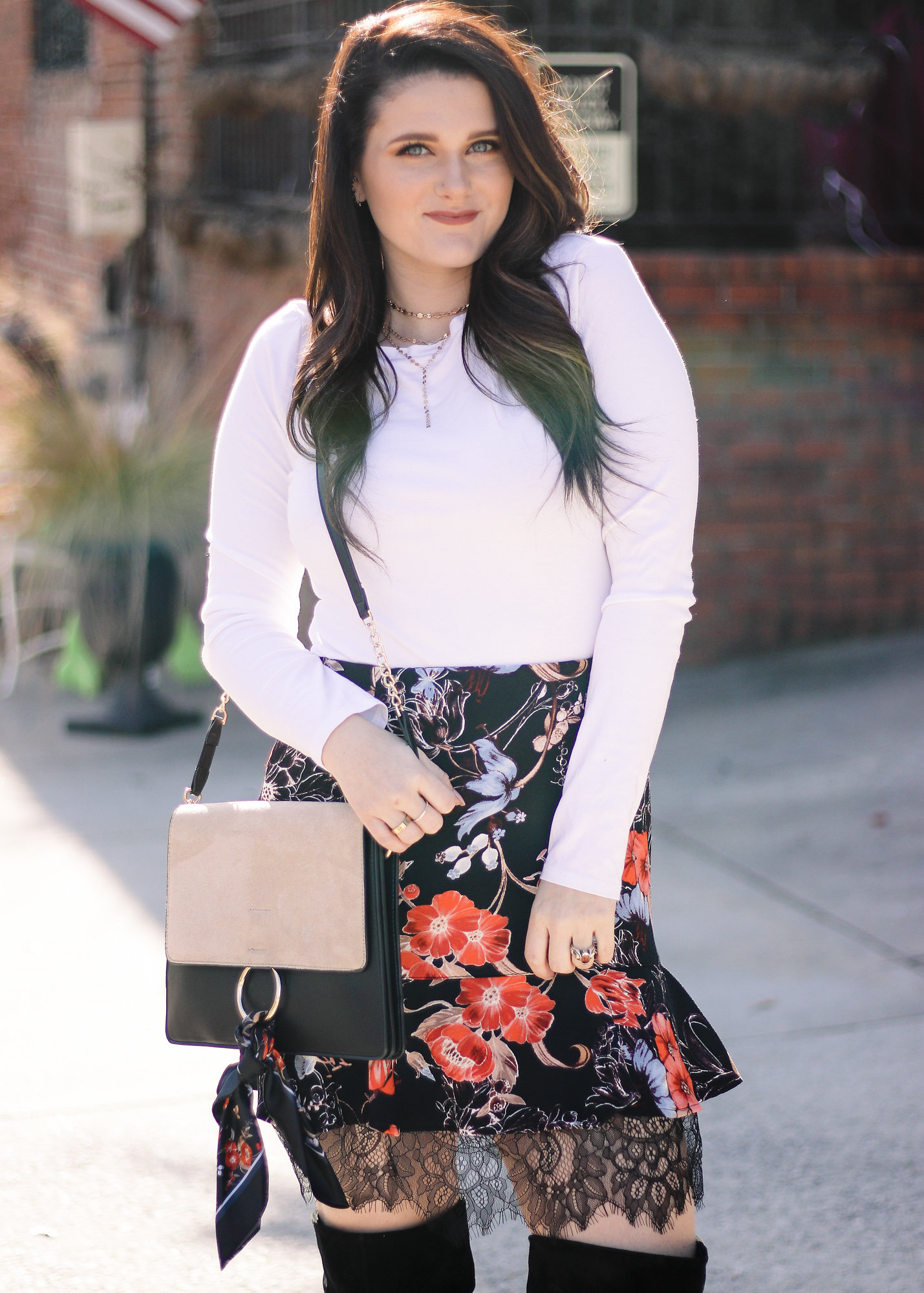 The Perfect Floral Skirt for Work