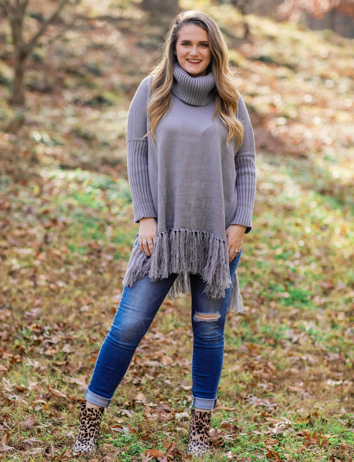 Styling The Coziest Fringe Sweater